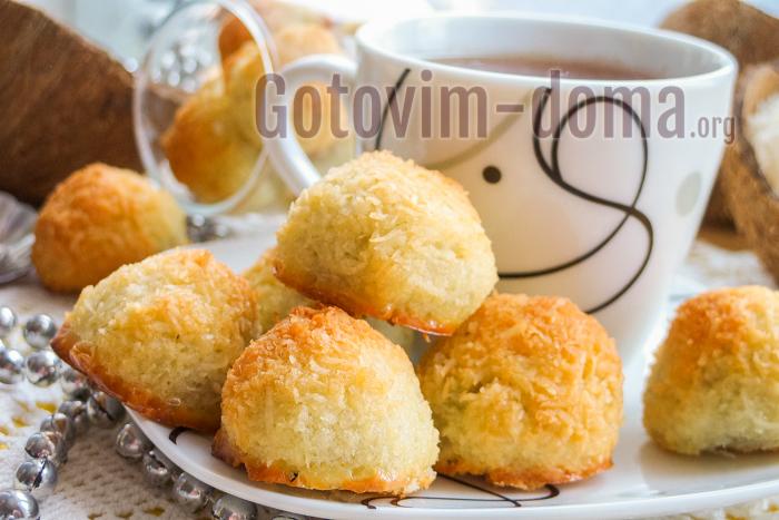 домашнее кокосовое печенье без муки