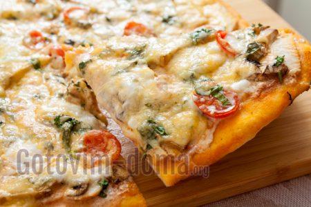 Пицца с курицей рецепт в домашних условиях
