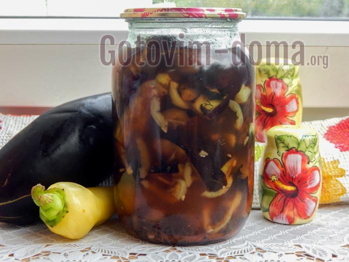 Баклажаны маринованные с медом и чесноком