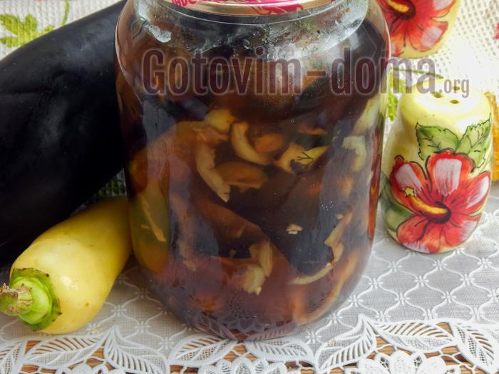 вкусные и простый Баклажаны маринованные с медом и чесноком