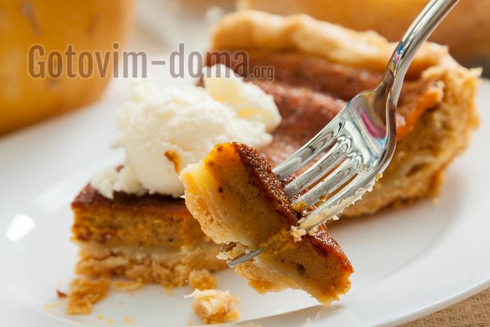 пирог с кремом из тыквы