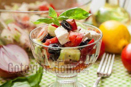 рецепт греческого салата с фетой
