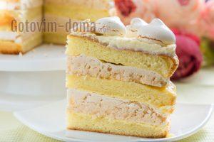 бисквитный торт с безе