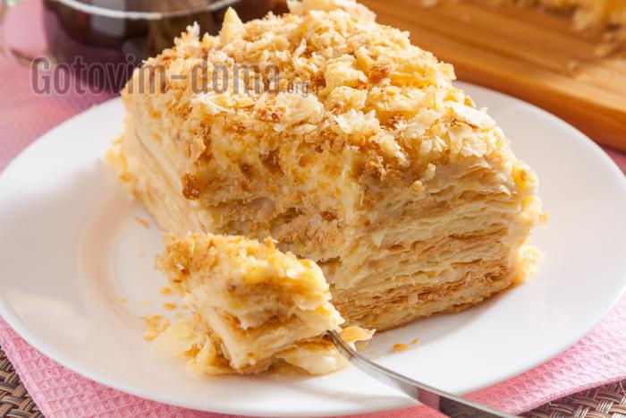 торт Наполеон, простой рецепт в домашних условиях
