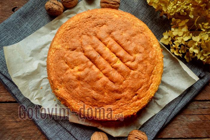 Рецепт орехового бисквита для торта или на десерт