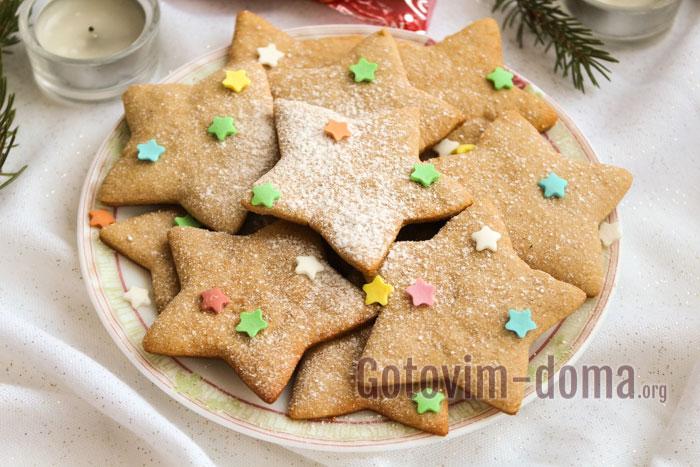 вкусное имбирное печенье