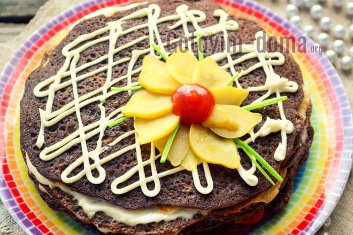 готовый печёночный торт пошаговый рецепт