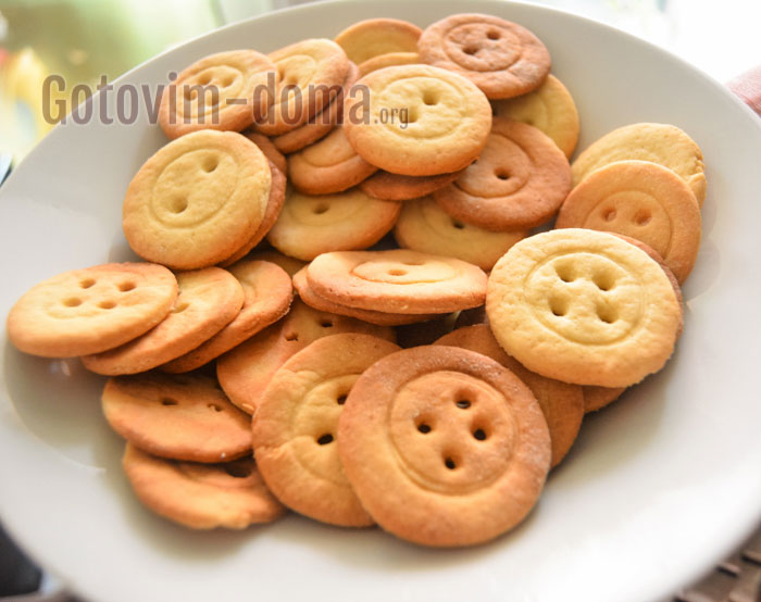 простое и вкусное печенье в виде пуговок