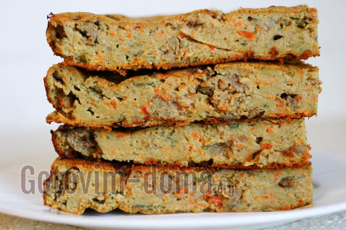печёночное суфле с овощами в духовке пошагово