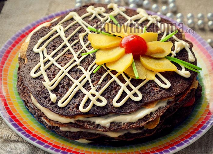 торт из куриной печёнки пошагово с фото