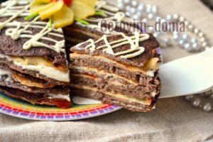 рецепт торта из куриной печёнки вкусно и быстро