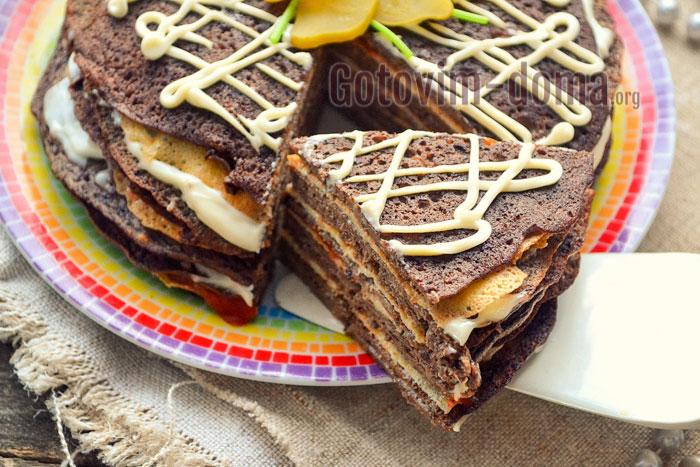 пошаговый рецепт торта из куриной печени