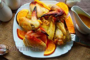 вкусные запечённые крылышки в духовке