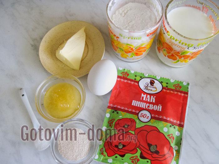 ингредиенты для макового хлеба