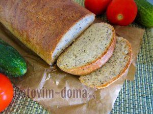 вкусный хлеб с маком на молоке