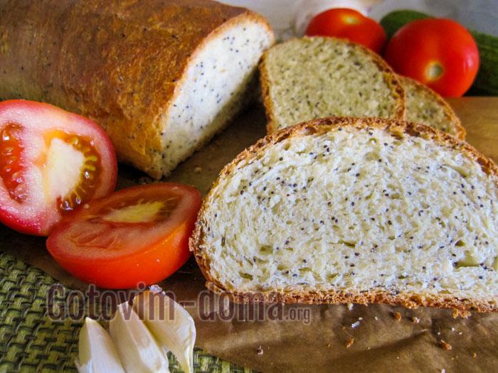 хлеб с маком в духовке рецепт с фото