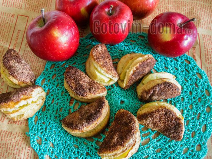 песочное печенье с яблоками рецепт с фото