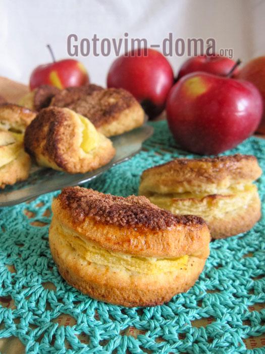 вкусное домашнее печенье с яблоками и корицей