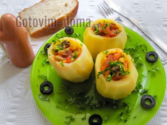 картофель запечённый в духовке вкусно и быстро