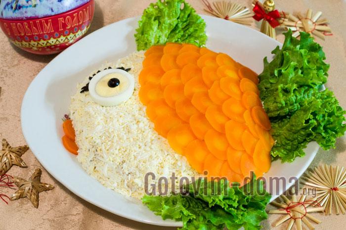 Салат золотая рыбка рецепт пошагово в 36