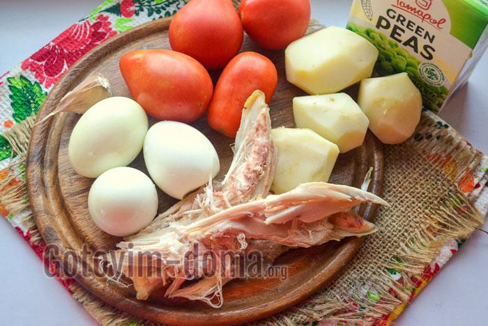 ингредиенты на новогодний салат