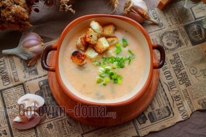 крем-суп с шампиньйонами пошагово с фото