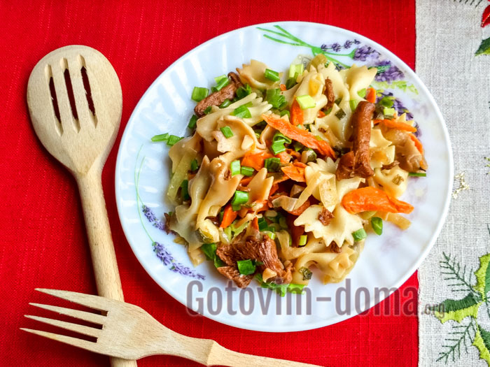 фарфалле с белыми грибами рецепт с фото пошагово