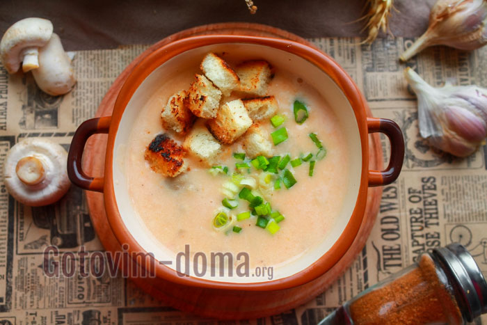 крем-суп с шампиньйонами как в ресторане