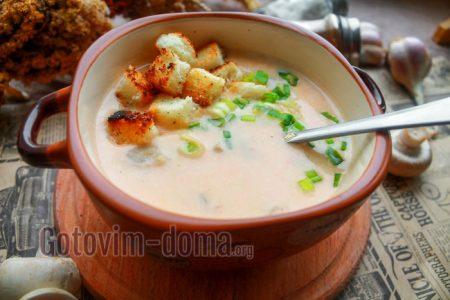 крем-суп с грибами рецепт с фото