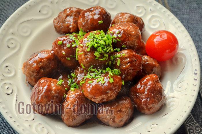 фрикадельки из куриной грудки в соусе пошаговый рецепт