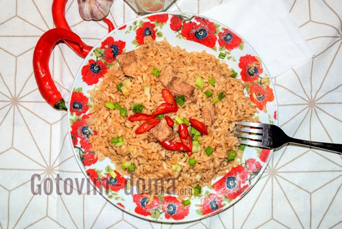 рис с мясом в мультиварке рецепт с фото