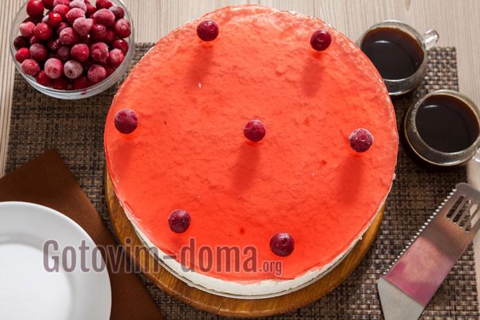 торт с вишневым желе