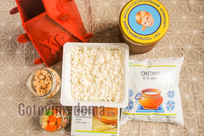 ингредиенты для творожной пасхи