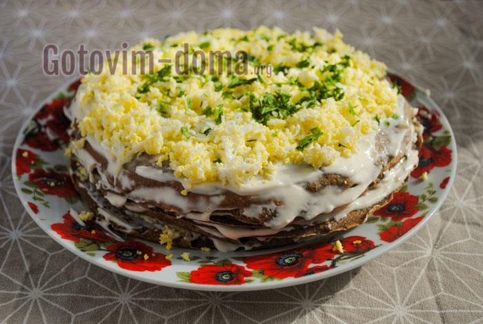 печёночный торт быстро и вкусно