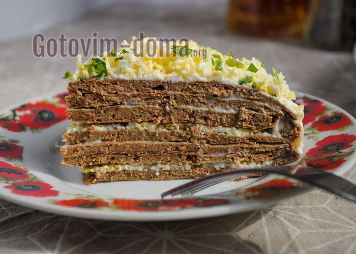 готовим дома печёночный торт