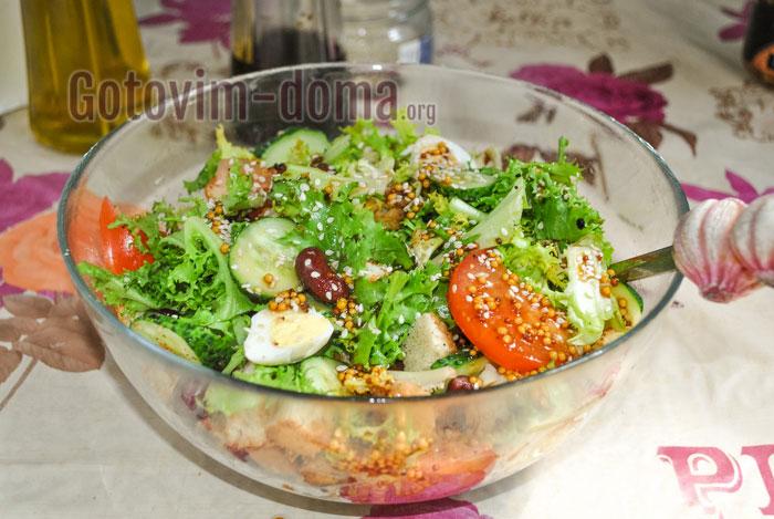 Как приготовить салат из красной фасоли быстро и вкусно, рецепт с фото