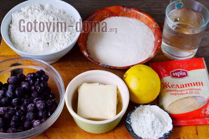 ингредиенты для смородинового пирога