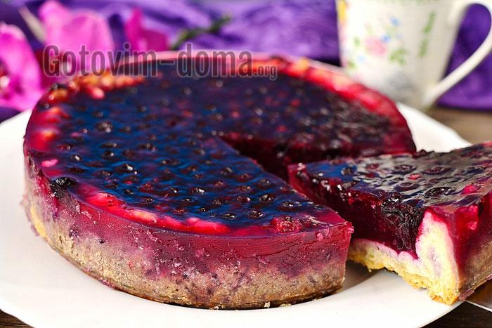 Смородиновый пирог с желе