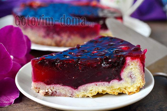 Пирог со смородиной и желе пошагово с фото
