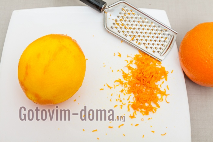 Цедра апельсина для торта.