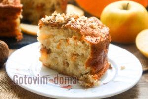 Шарлотка с яблоками и тыквой, рецепт
