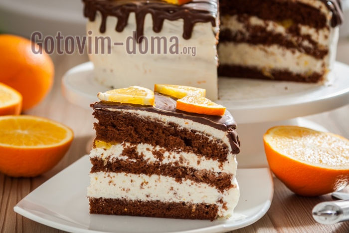 Как приготовитьбисквитный торт с сырным кремом, рецепт с фото пошагово.