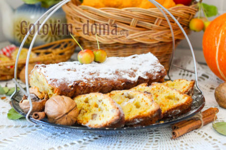 Рецепт кекса с тыквой в духовке