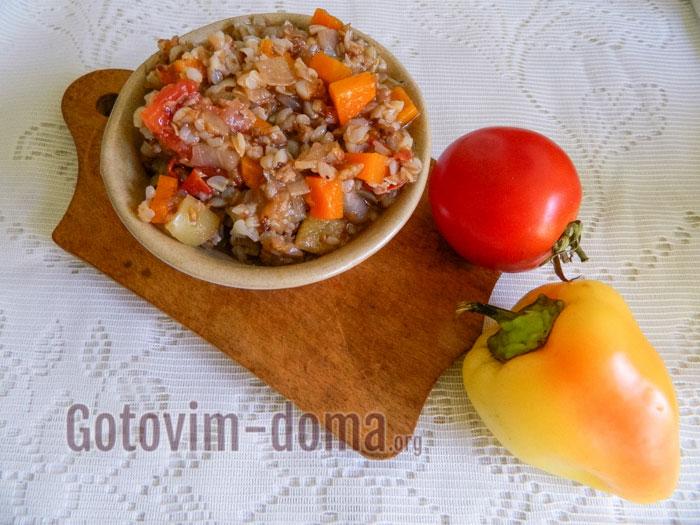 вкусная гречка с овощами закатанная на зиму