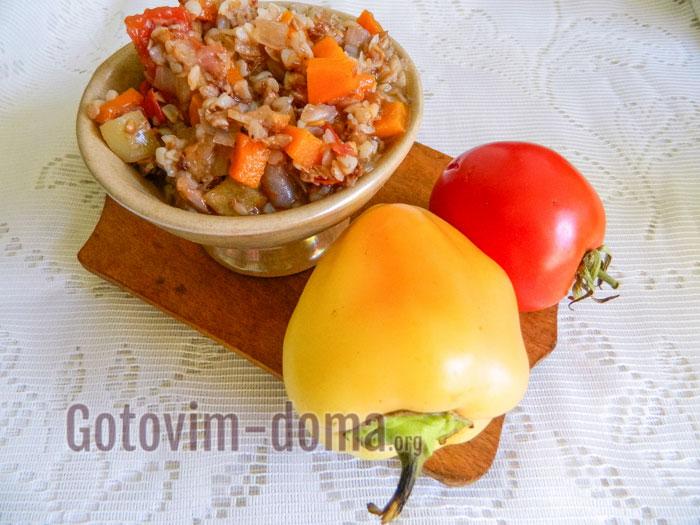 гречка с овощами пошаговый фоторецепт