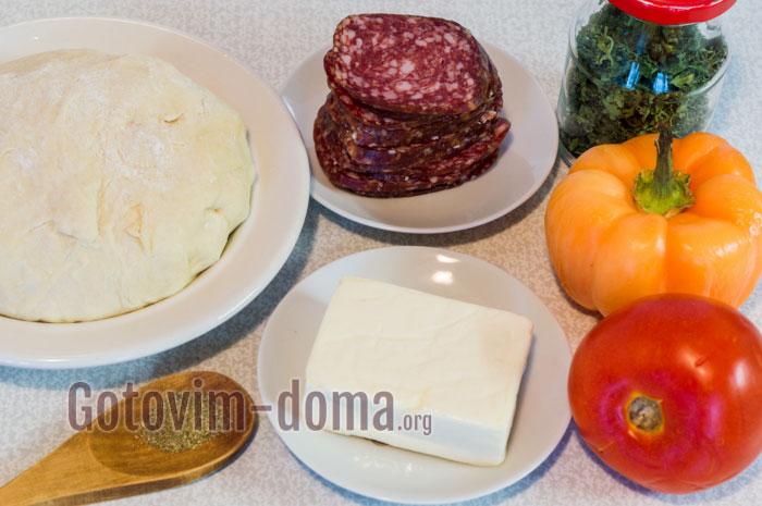 ингредиенты для начинки на пиццу
