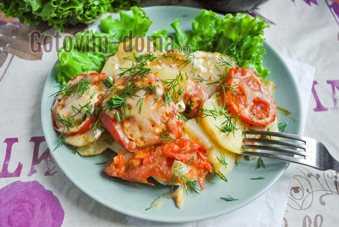 Вкусное мясо по-французски с картофелем в мультиварке