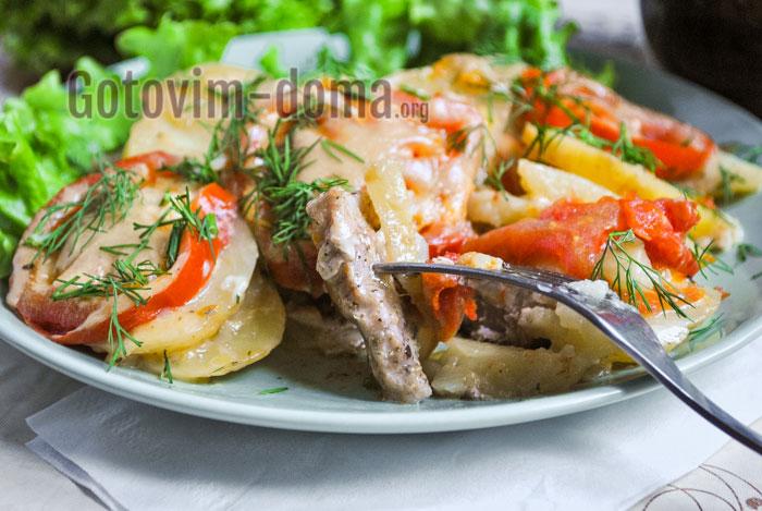 мясо по-французски в мультиварке рецепт с фото