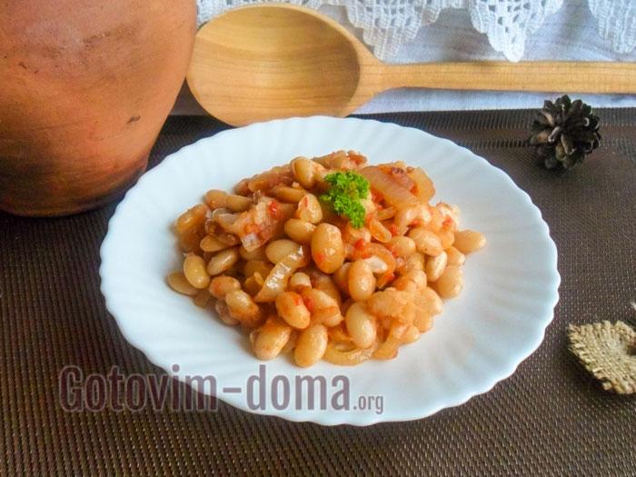 Тушеная фасоль с овощами, рецепт с фото