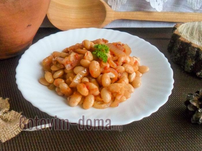фасоль с луком в томате быстро и вкусно